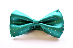 Small Dot Bow Tie Green