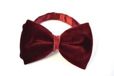 Velvet Bow Tie Red