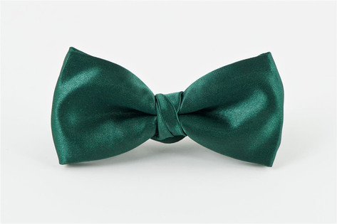 Satin Bow Tie Green