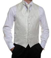 Ivory Floral Vest