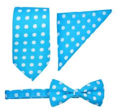 Blue Spot Tie Set