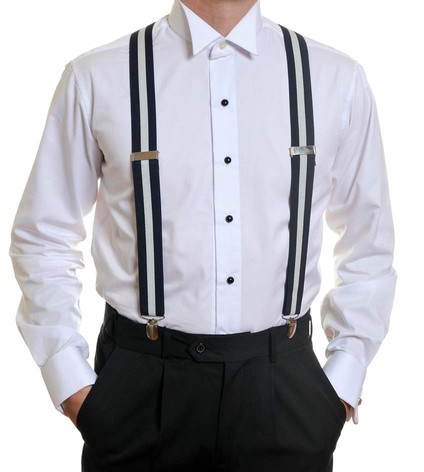 Louis Cheval Braces Navy White