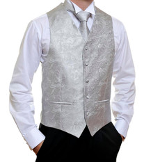 Silver Paisley Vest