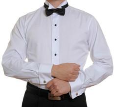 Stud Front Wing Collar Dinner Shirt