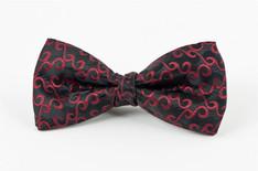 Burgundy Swirl Bow Tie