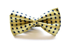 Large Dot Bow Tie Yellow