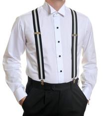 Louis Cheval Braces Black White