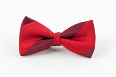 Burgundy Strip Bow Tie
