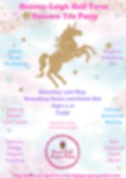 Heaven-Leigh Half Term Unicorn Tea Party