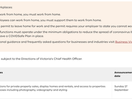 VIC Rental hiring and real estate services restrictions