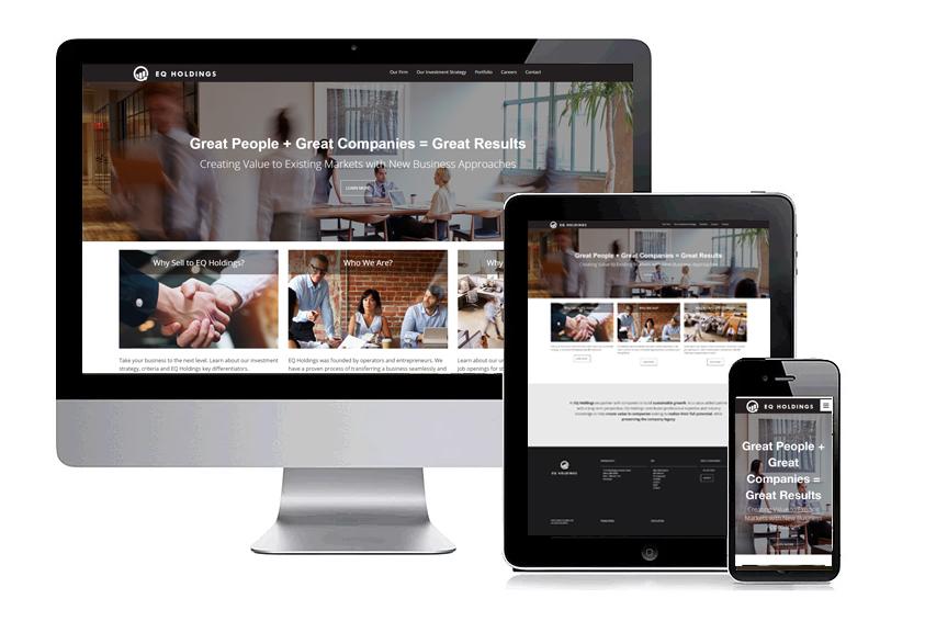 EQ Holdings Web Design