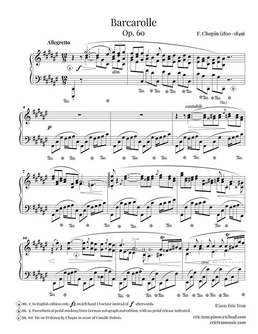 Chopin Barcarolle (edition ET) 1st page