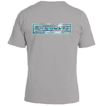 Livin and Chillin You're Under a Rest Mens Moisture Wicking Shirt -Grey