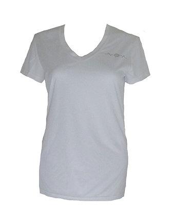 Small Golf Heartbeat Women's Moisture Wicking V Neck Shirt
