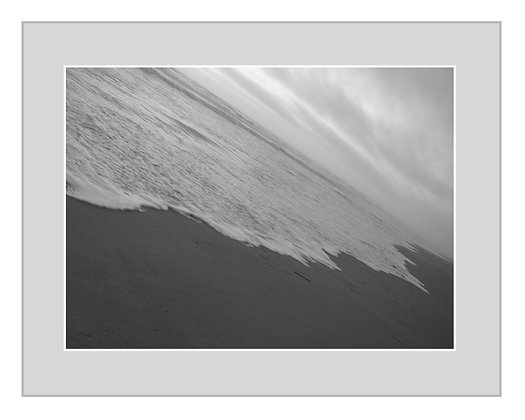 Coastline Black and White Print