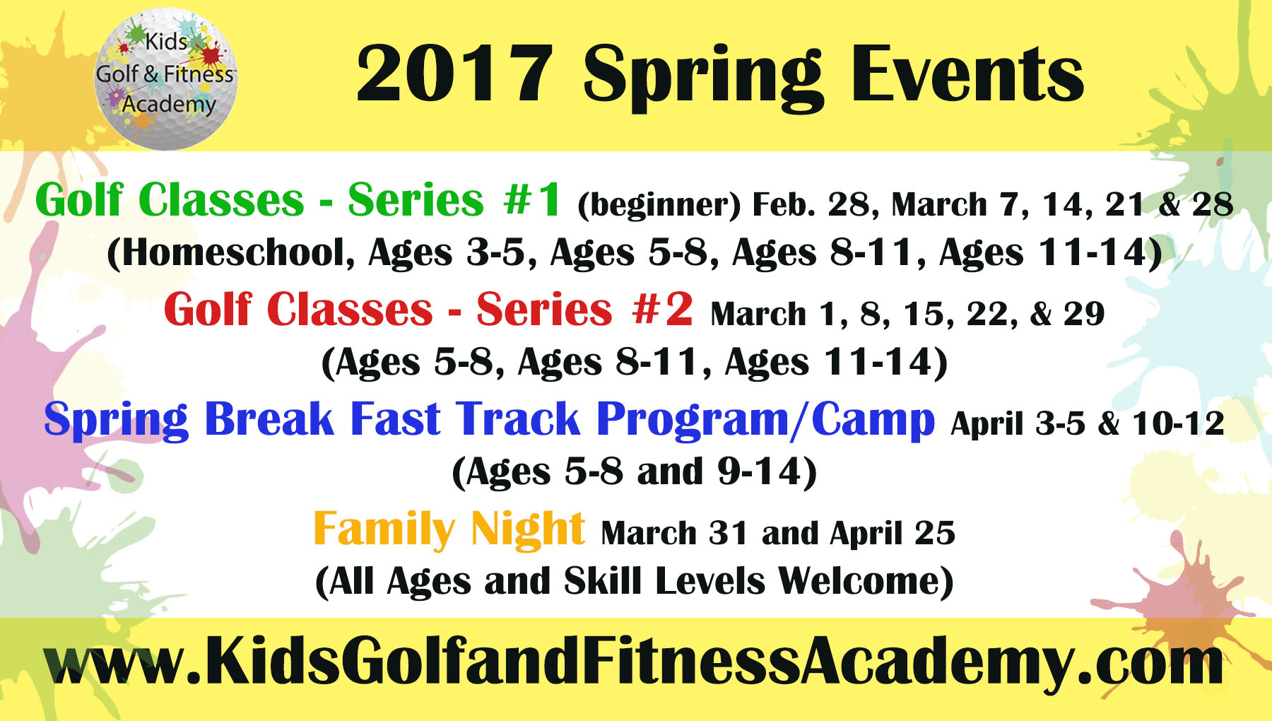kgfa spring events
