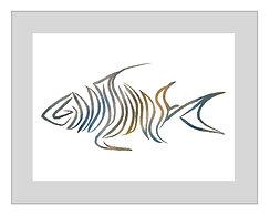 Signature Livin and Chillin Fish Design Print - Multi