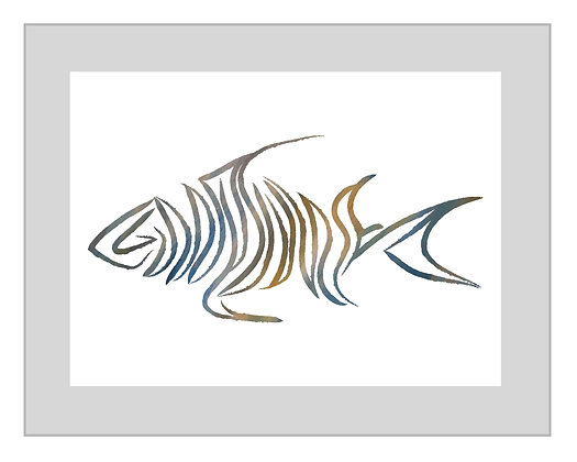 Signature Livin and Chillin Fish Design Print - Multi