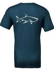 Livin and Chillin Shark Mens Eco Friendly Shirt