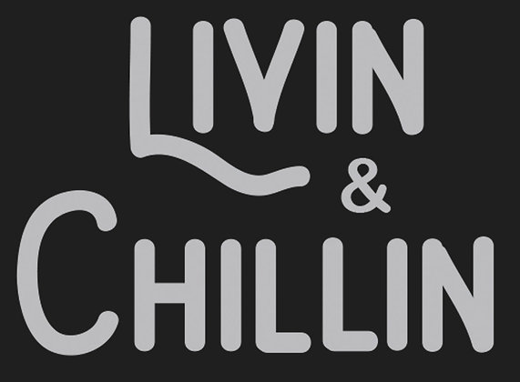 Livin and Chillin Car Decal - Silver