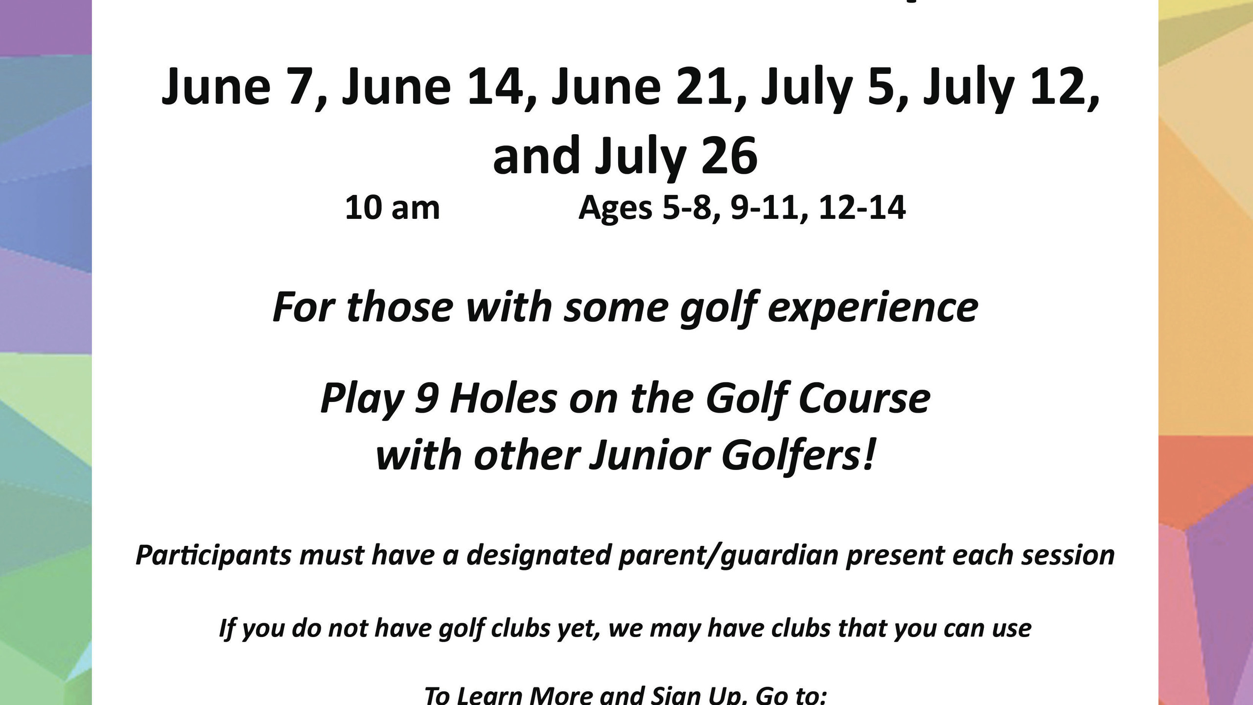 kgfa-junior golf meet up