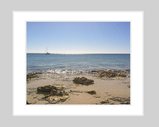 Sailing on Crystal Waters Print