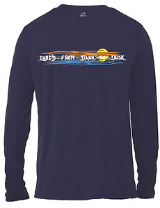 Livin and Chillin Lured from Dawn to Dusk Mens Moisture Wicking Shirt -W