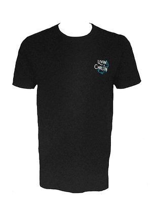 All Night Long Livin & Chillin Mens Short Sleeve Organic Cotton Shirt