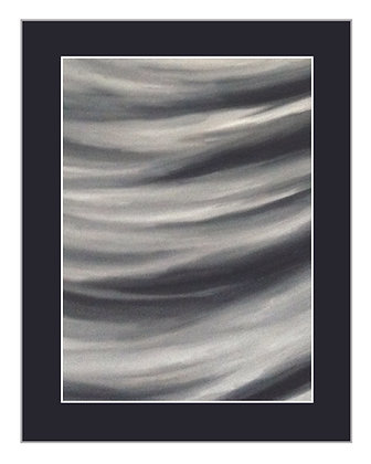 Abstract Waves Black and White Print