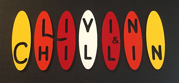 Livin and Chillin Boards Decal - White/Yellow/Orange/Red (small size)