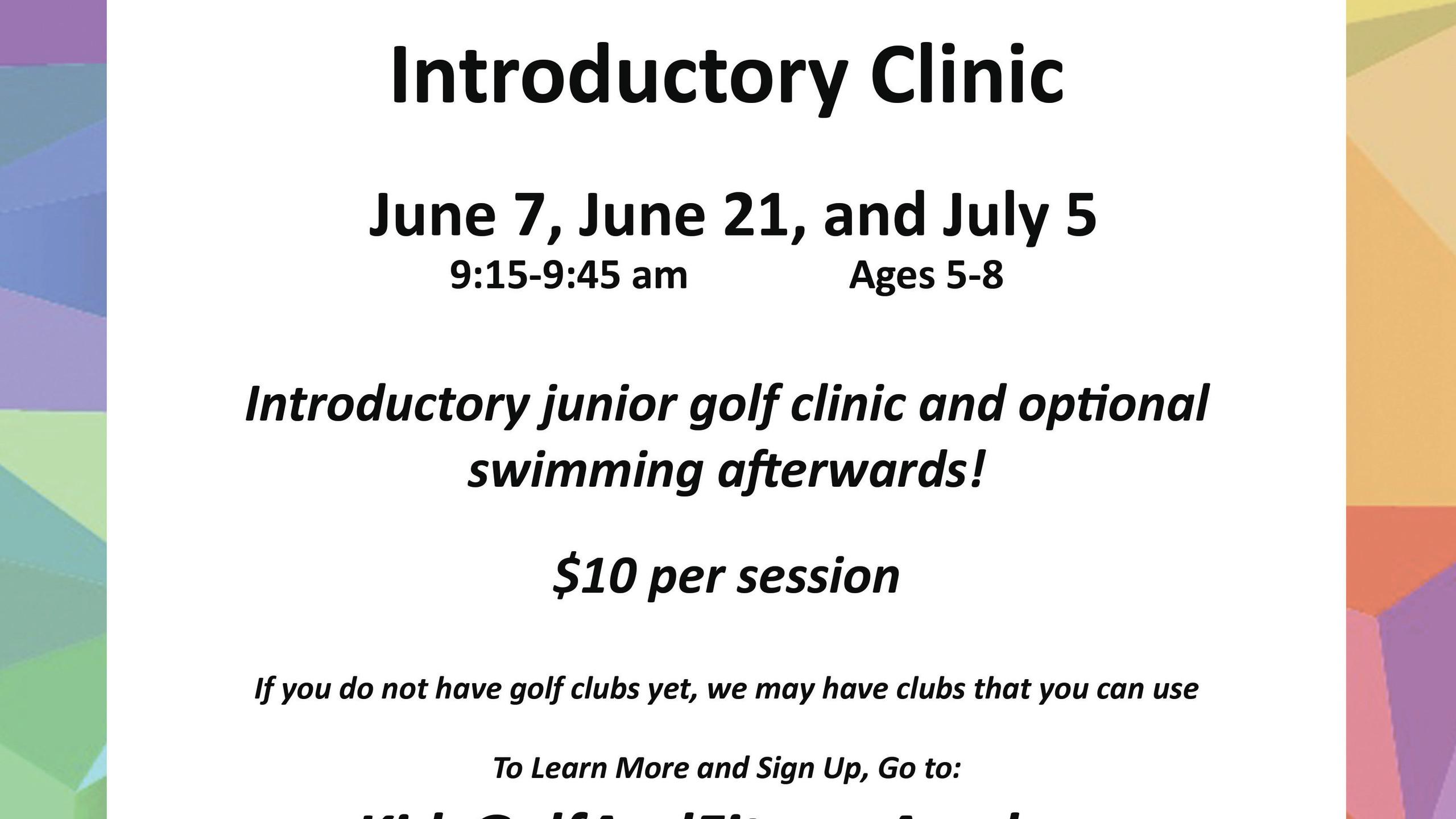 kgfa-junior golf clinic