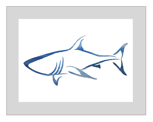 Shark Print - Shades of Blues
