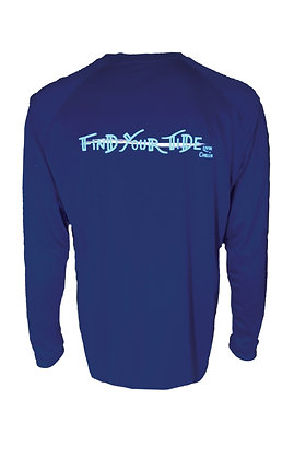 Find Your Tide Livin & Chillin Mens Moisture Wicking Shirt -Navy