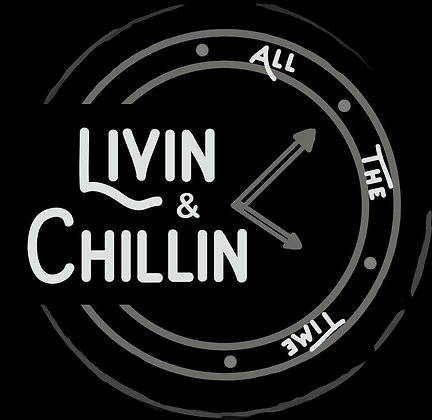 Livin and Chillin Car Decal - White and Silver (Small Size)
