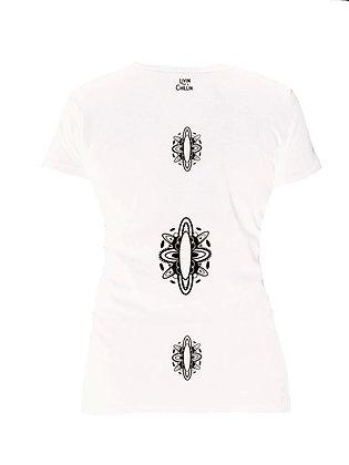 Triple SUP/Surf Board Mandala Women's Moisture Wicking Shirt-White