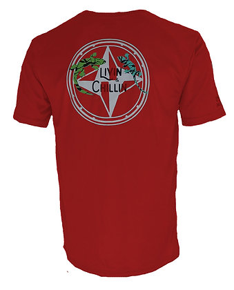 Lizard Livin and Chillin Mens Moisture Wicking T Shirt- Red