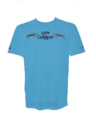 Livin Current Fishing Mens Moisture Wicking T Shirt
