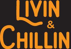 Livin and Chillin Car Decal - Orange
