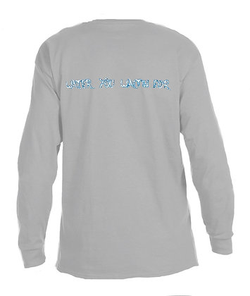 Water You Waitin For Livin and Chillin Mens Moisture Wicking Shirt -Light Grey