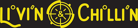 Livin and Chillin Nautical Decal - Yellow (Small Size)
