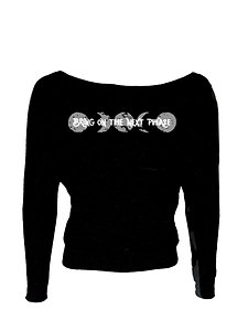 Bring on the Next Phase Livin and Chillin Women's Long Sleeve Shirt-Black