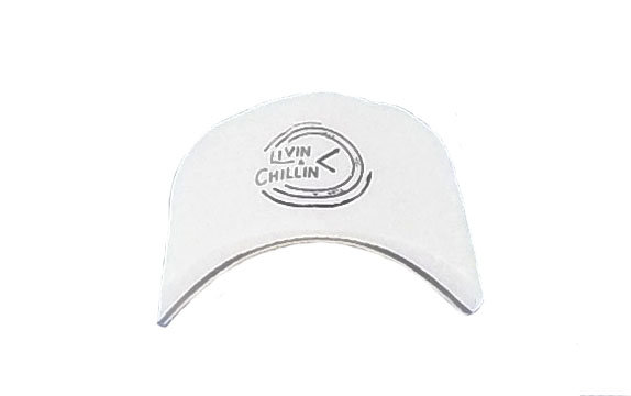 Livin and Chillin All The Time Hat-White