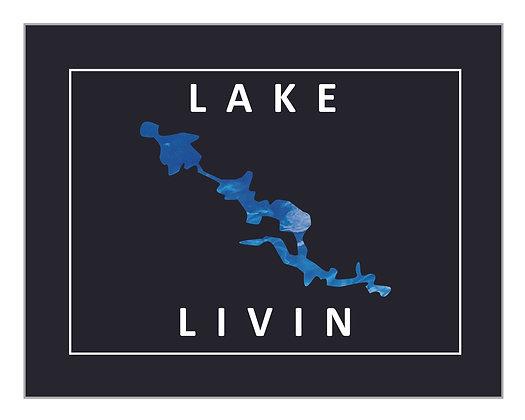 Personalized 'Lake Livin' Print