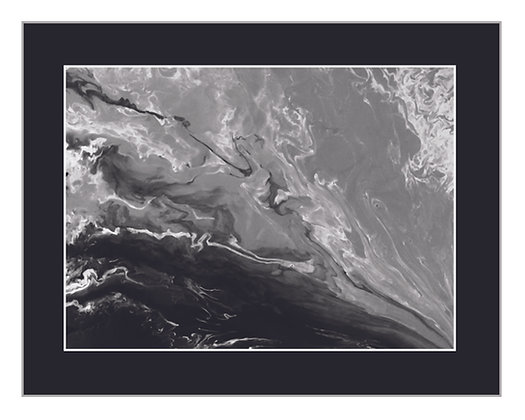 Abstract Wakezone Black and White Print