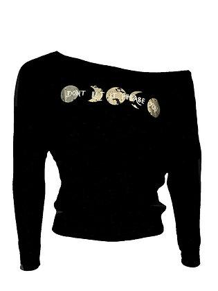 Don't Let it Phase You Livin & Chillin Women's Long Sleeve Shirt-Black