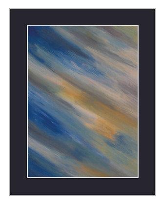 Abstract Coastal Print