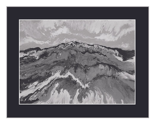 Mountain Print - Black, Grey and White