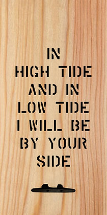 In High Tide and Low Tide Wall Decor with Boat Tie Hanger