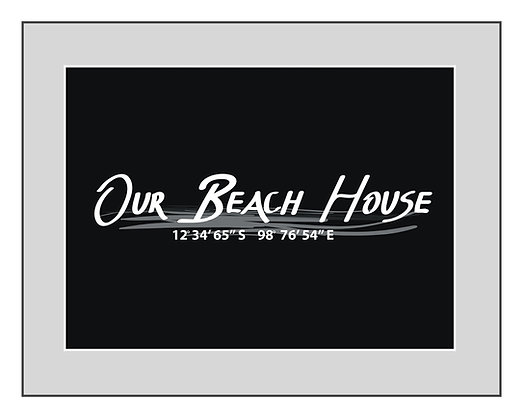 Personalized 'Our Beach House' Print