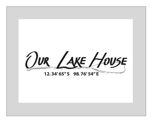 Personalized 'Our Lake House' Print